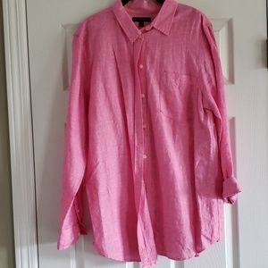 Banana Republic pink button down.  XL EUC!